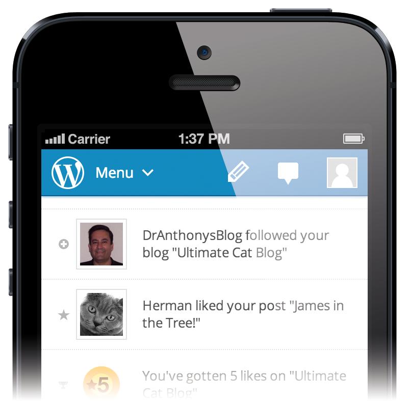 New Aztec Editor WordPress Mobile App on iPhone 6